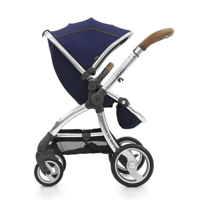 Egg Stroller Regal Navy & Mirror Chassis