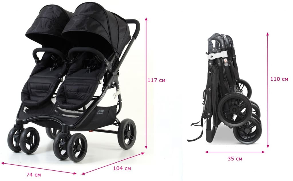 Valco Baby Snap 4 Ultra Duo размеры и вес